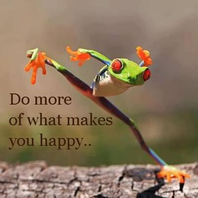 Do more of what makes you happy …