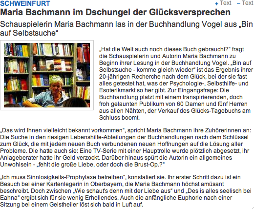 Schweinfurter Tagblatt 27.7.2013 - 1