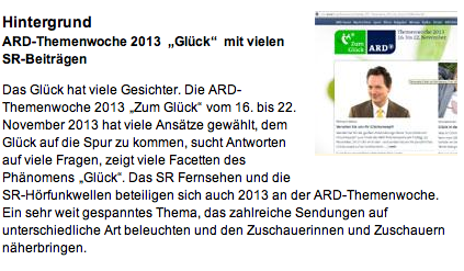 Saarländischer Rundfunk 17.11.2013