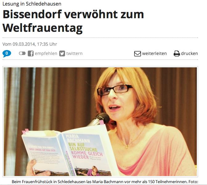 Lesung Weltfrauentag 2014: Artikel Neue Osnabrücker Zeitung