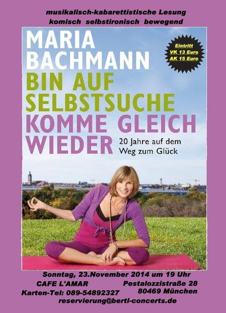 """Trailer zur Buchlesung """"Bin auf Selbstsuche – komme gleich wieder"""" am 21.11.2014"""